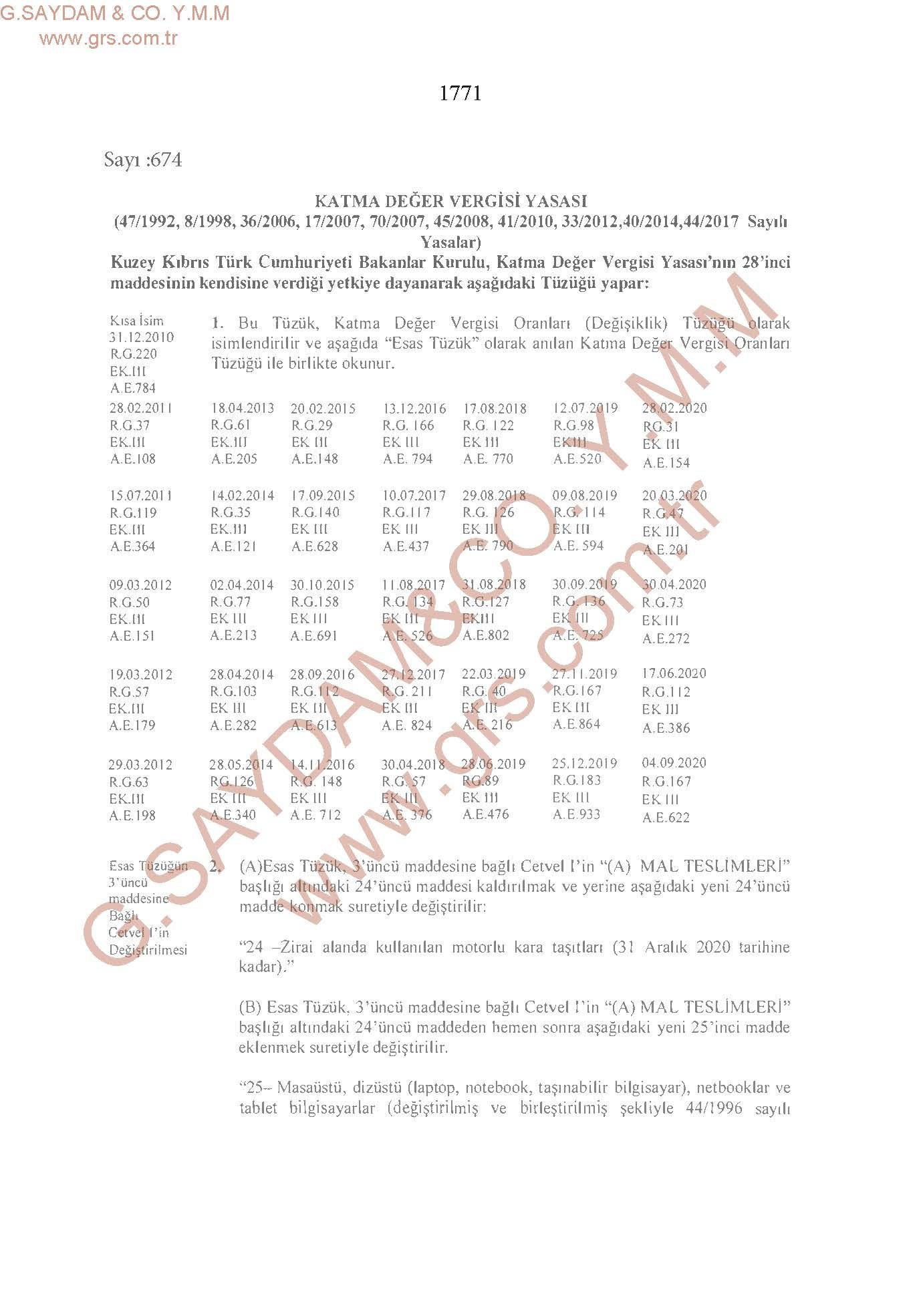Katma Değer Vergisi Yasası 17092020_Sayfa_1