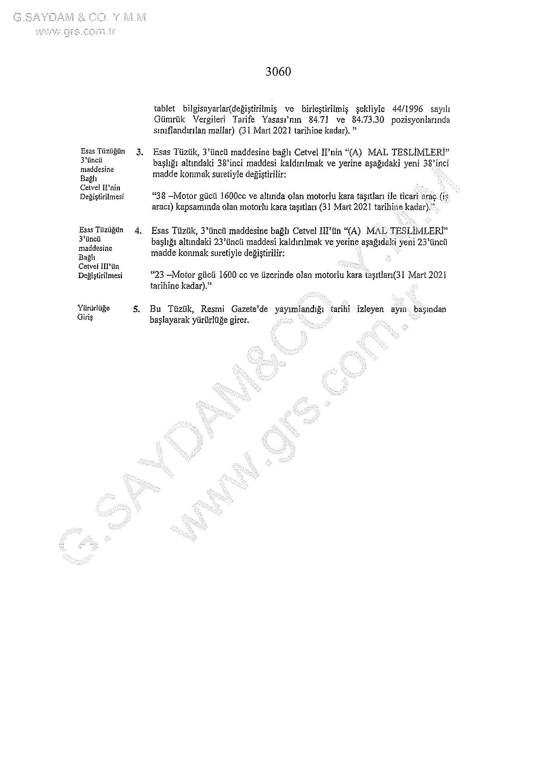 KATMA DEĞER VERGİSİ YASASI 05012021